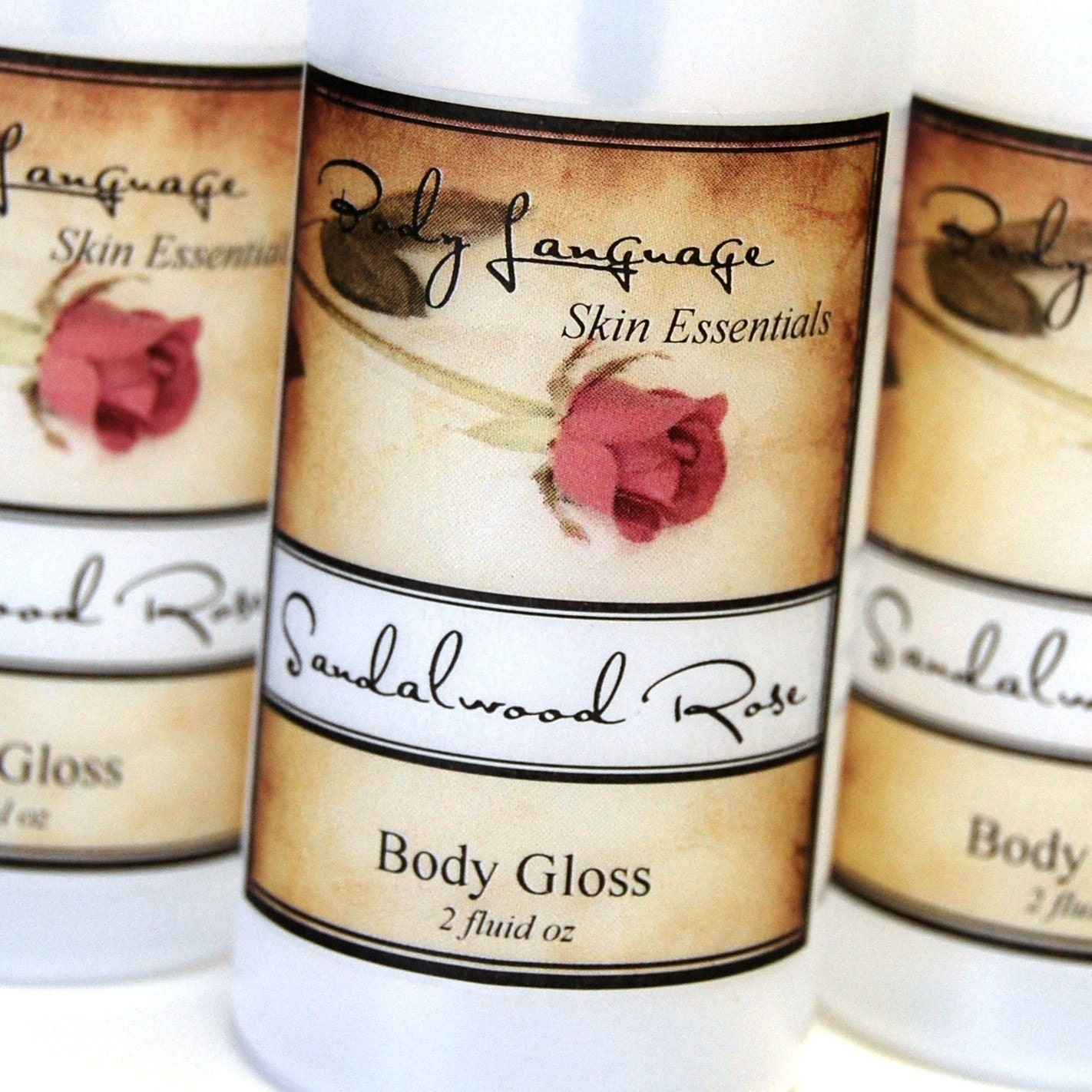 Sandalwood Rose Body Gloss - Sensual Scented After Bath Body Spray