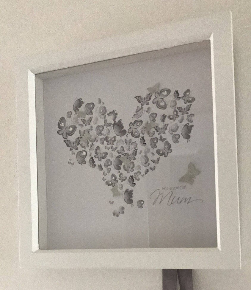Handmade Mounted and Framed 3D Heart Picture