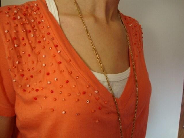 SHIRT SALE - Melon V Neck Soft Cotton Shirt