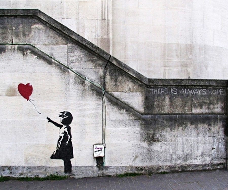 Bansky Graffiti Art - Girl with Balloon No. 3 - 8x10 Print of an  Original Photograph