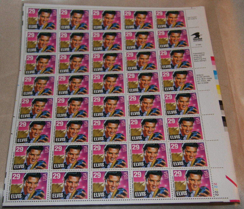 Items Similar To 1992 Elvis Presley Stamp Sheet United