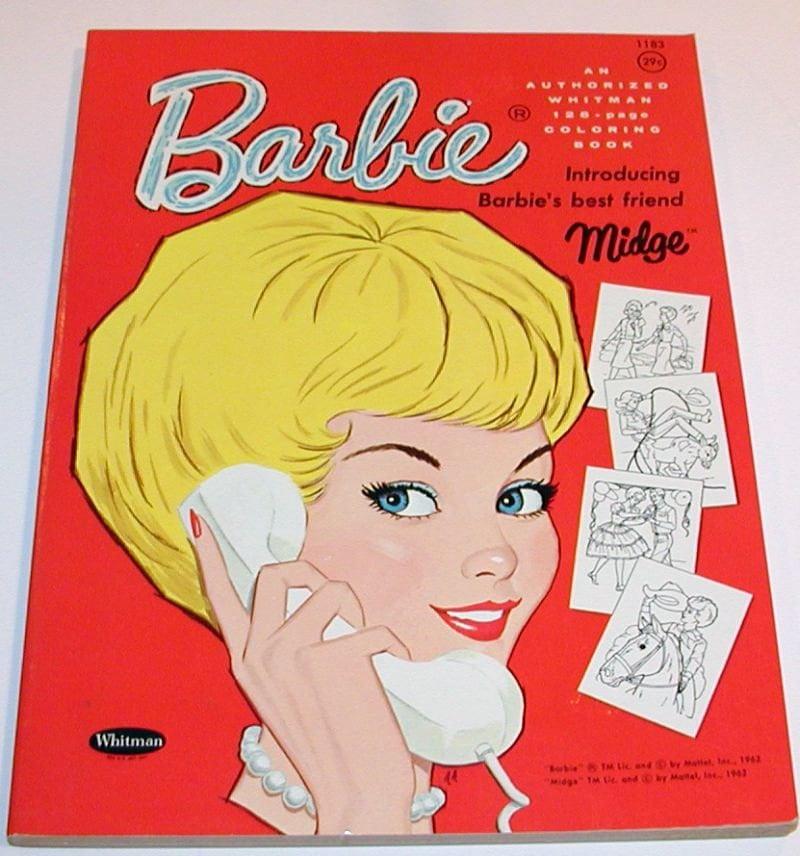 Vintage 1963 Barbie Coloring Book Unused By Haoli On Etsy