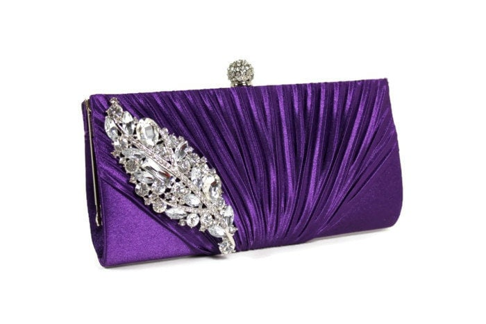 Purple Bridal Clutch, Purple Evening Bag, Bridesmaids Clutch, Wedding ...