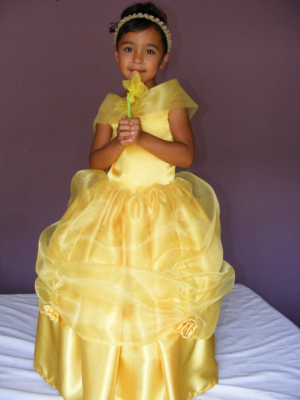 PRINCESS BELLE COSTUME sizes 2t -5Princess Belle Costume