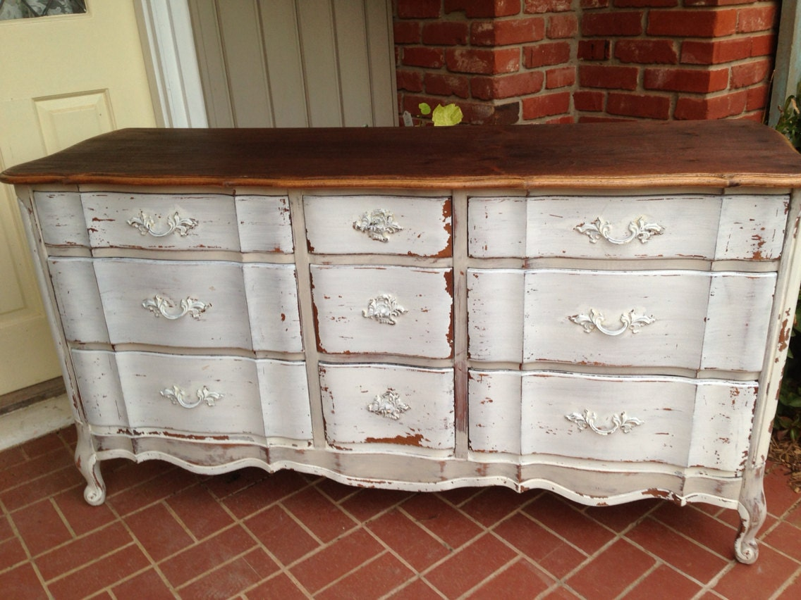 Vintage French Provincial Dresser Milk Paint By