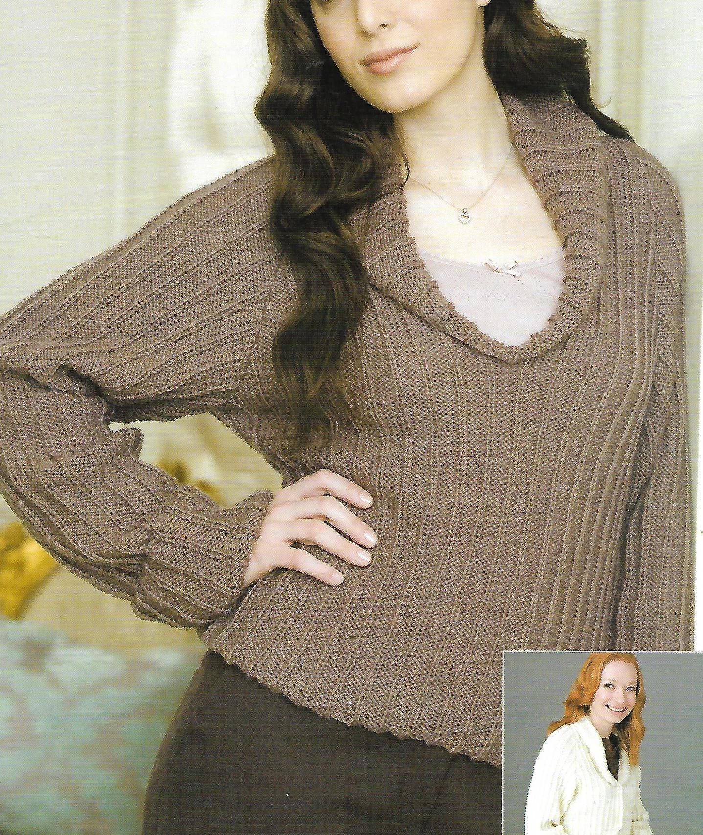 knitting pattern womens ladies jacket sweater sizes 3242 in double knitting pdf instant download