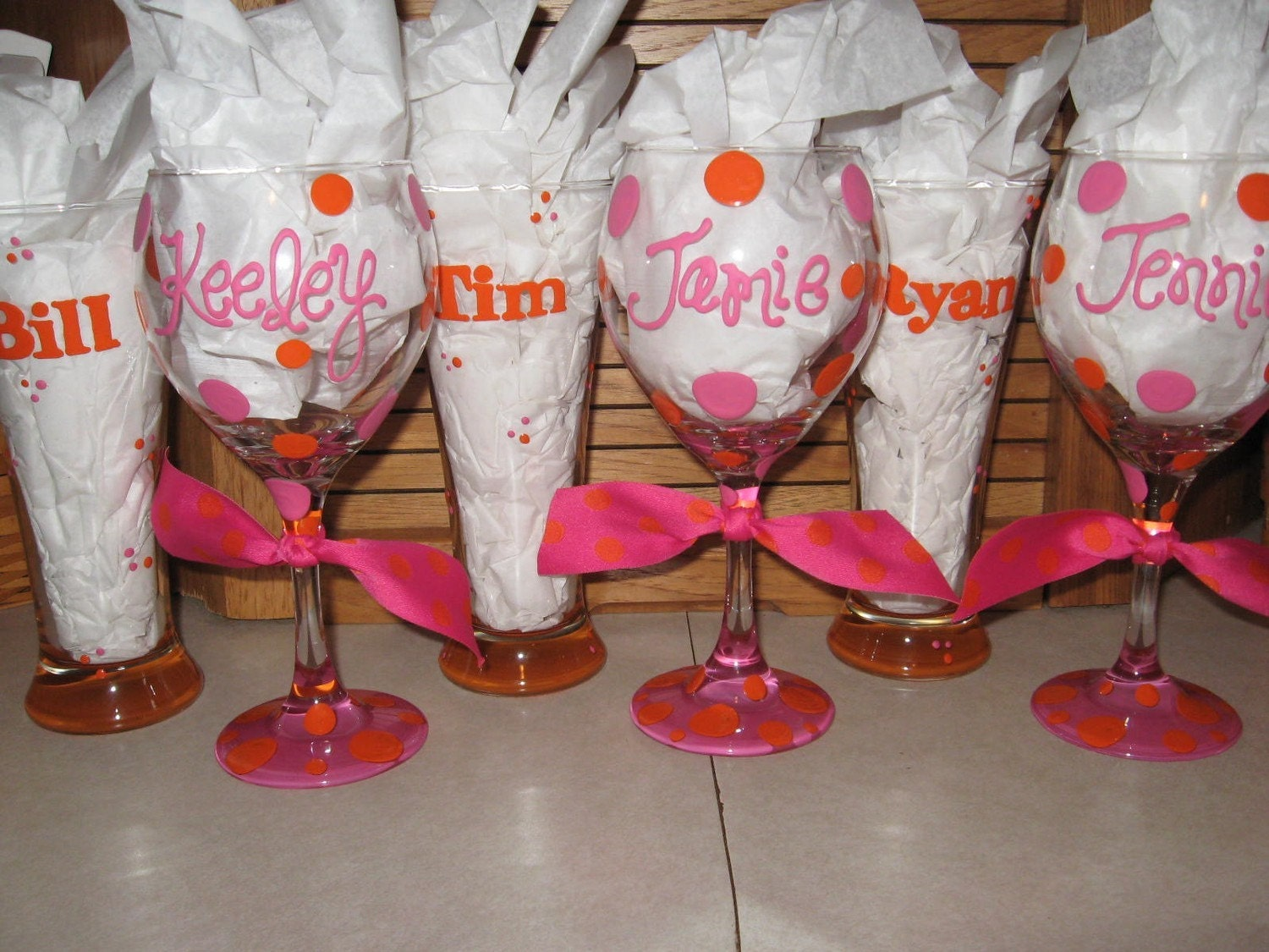 Handpainted Personalized Wine Glass Leopard Zebra Perfect Wedding Party, Gift, Sorority, 21st, 30th, 40th Birthday