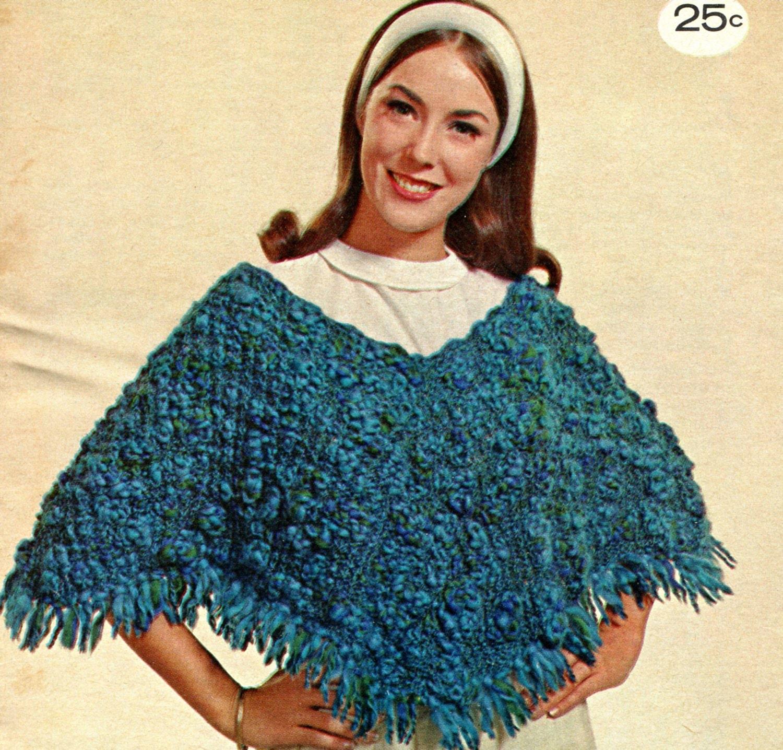 Knitting Crochet In Spanish : Spanish style knit poncho pattern circa by pearlshorecat