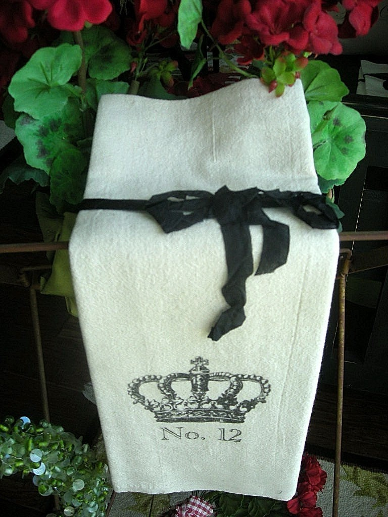 French Crown Tea Towel