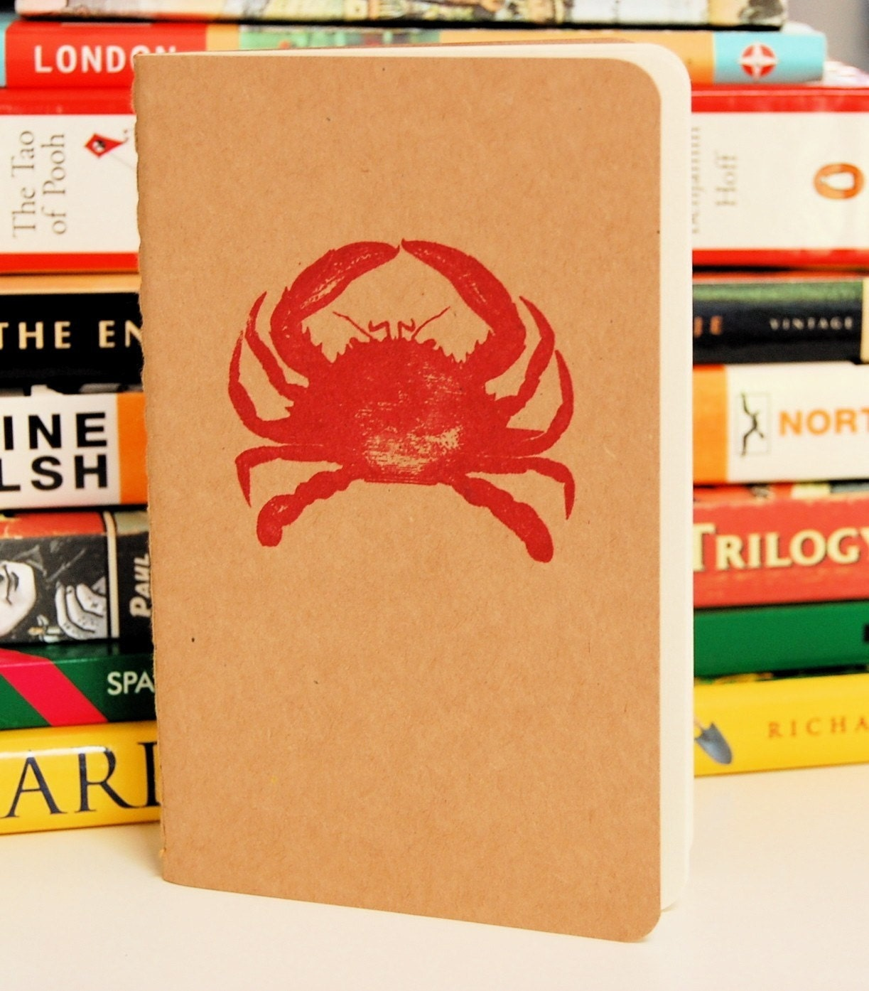 Cherry Red Crab Moleskine - Gocco Printed - Unlined