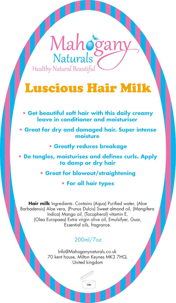 Mahogany Naturals- Luscious hair milk leave in Treatment & Moisturiser
