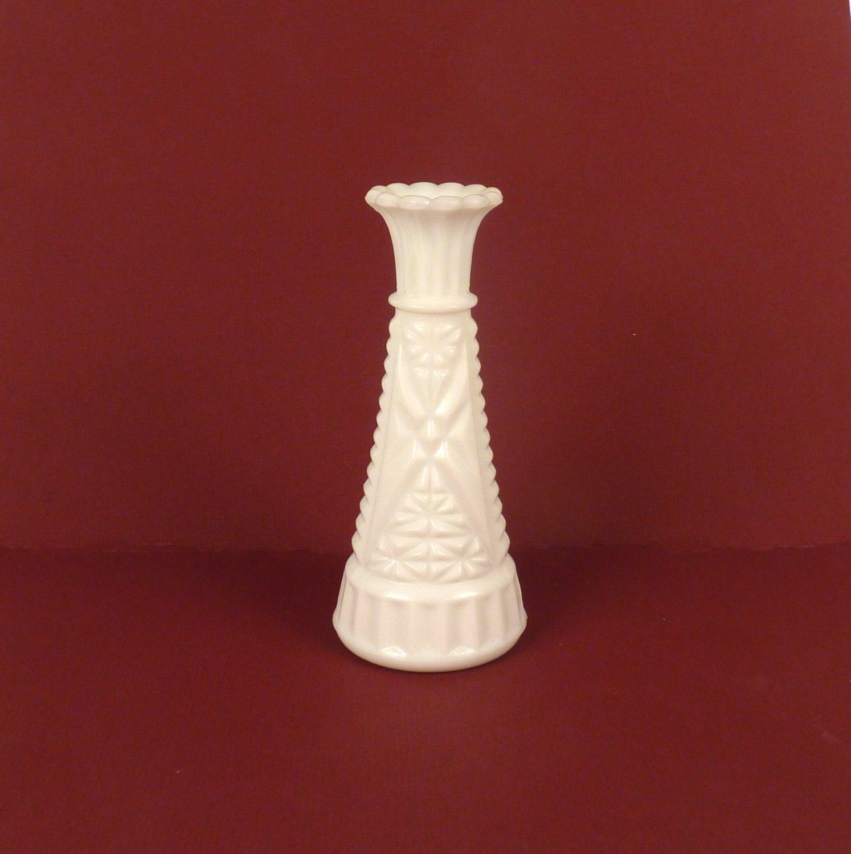 Vintage Bud Vase White Milk Glass Weddings Flower By ByHeart