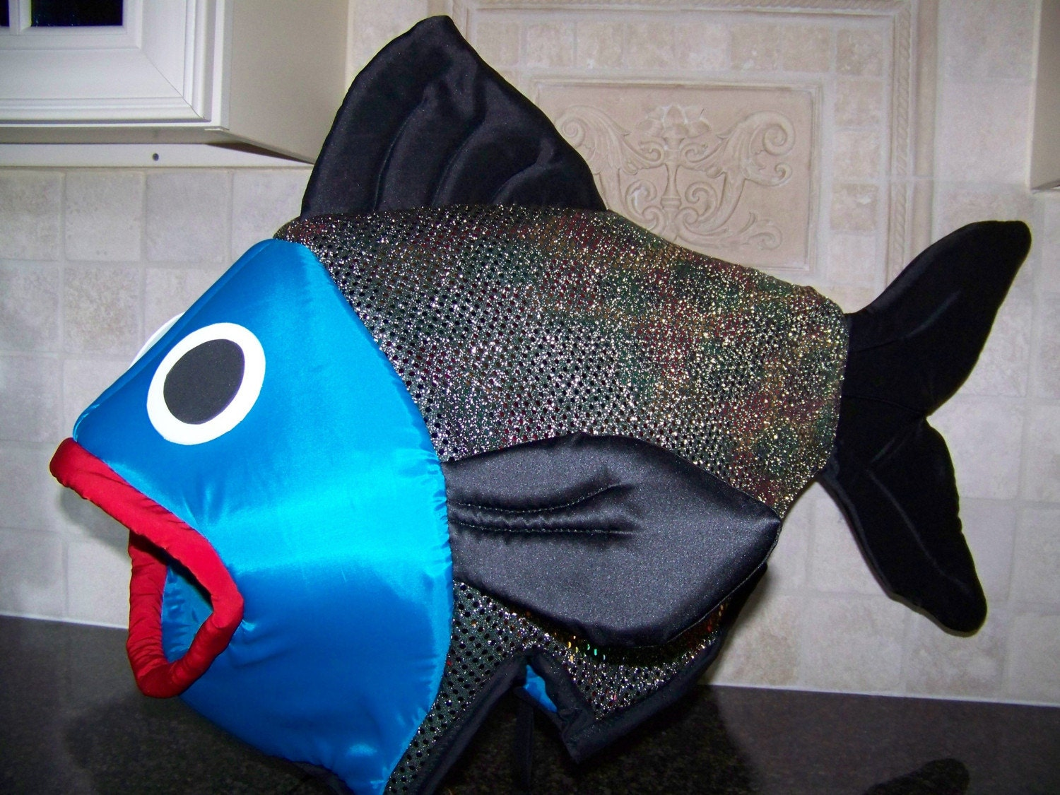 Unique adult or teen fish costume handmade by joannecud123 for Fish head costume