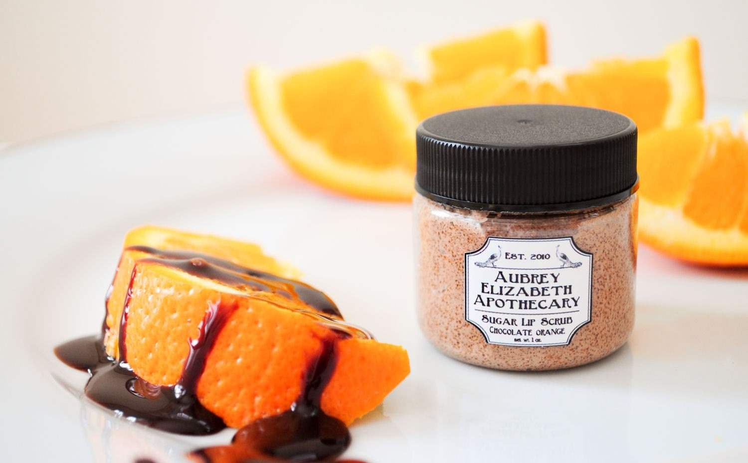 Chocolate Orange  Sugar Lip Scrub in a Jar - all natural & vegan -  2 in 1 scrub and balm