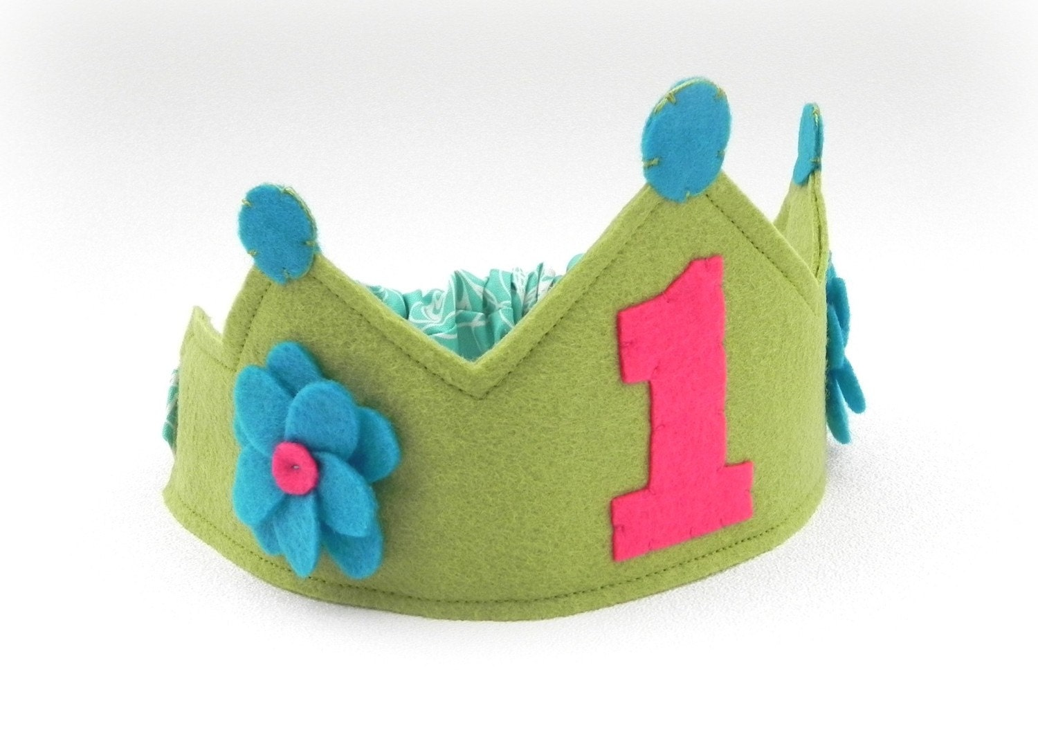 Girlie Green Birthday Crown