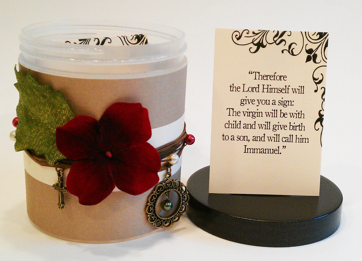 """Sweet home treasures Christmas Bible Verse Gift Set- with 33 Scripture Cards- """"Country Christmas"""""""