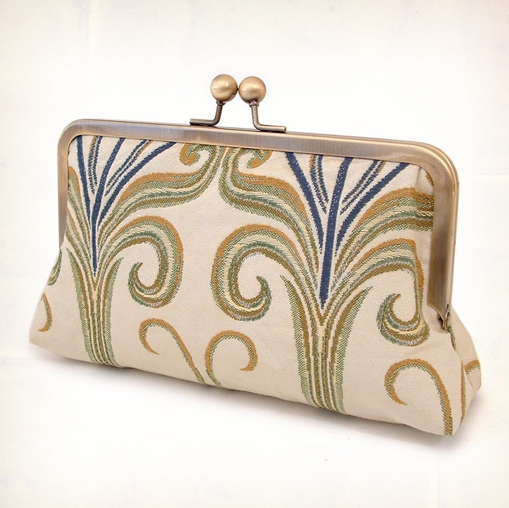 Arts and Crafts silk-lined clutch bag
