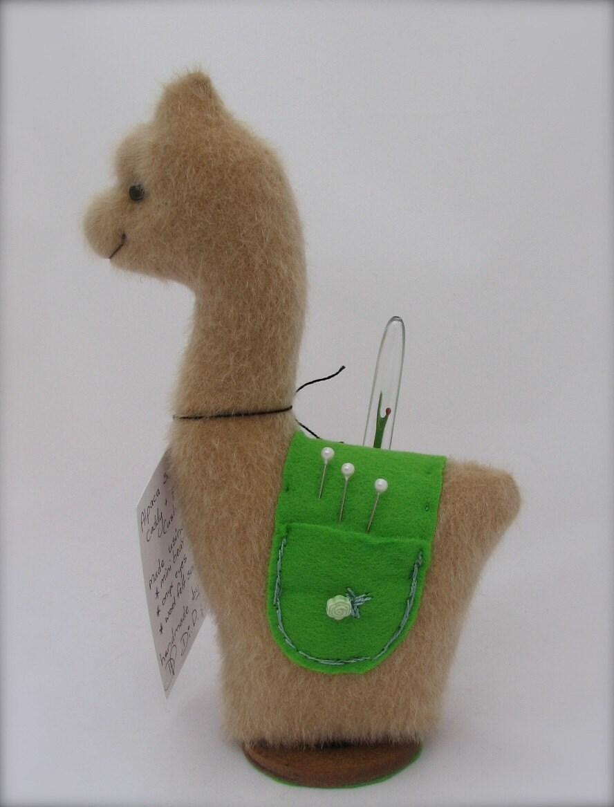 Alpaca or llama sewing caddy pin cushion