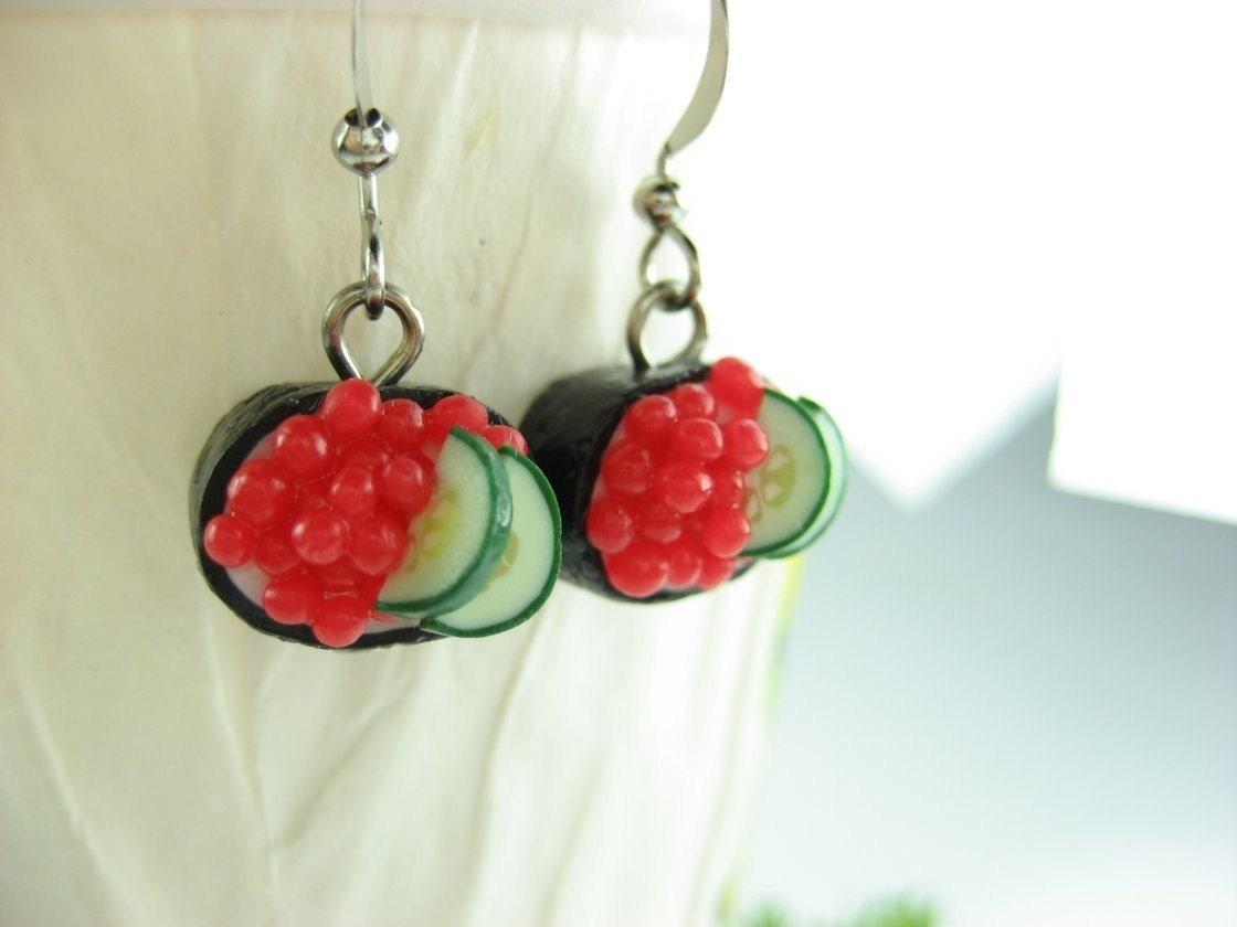 Ikura Sushi Earrings