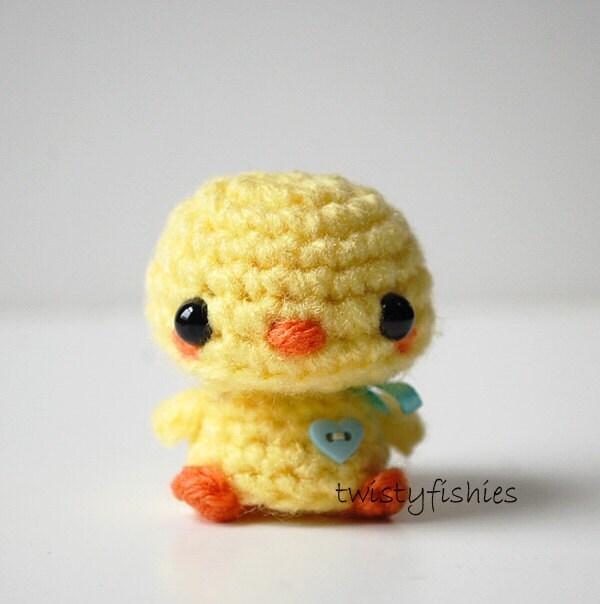 Amigurumi Baby Chicks : SALE Kawaii Baby Chick Mini Amigurumi Plush by twistyfishies