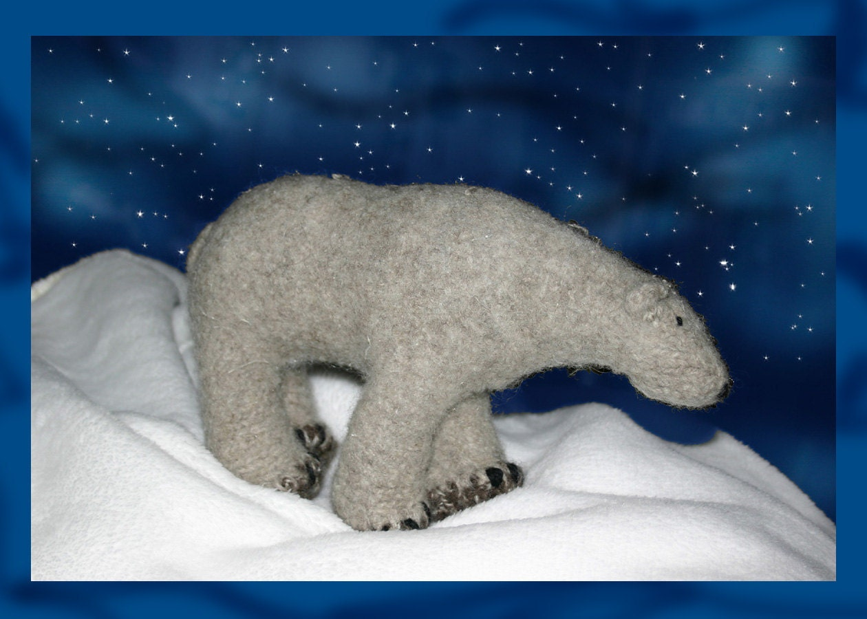 Knitted and Felted Polar Bear Pattern by ybnorml on Etsy
