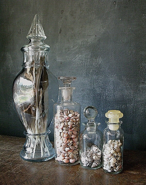 4 Vintage Apothecary Jars/Bottles