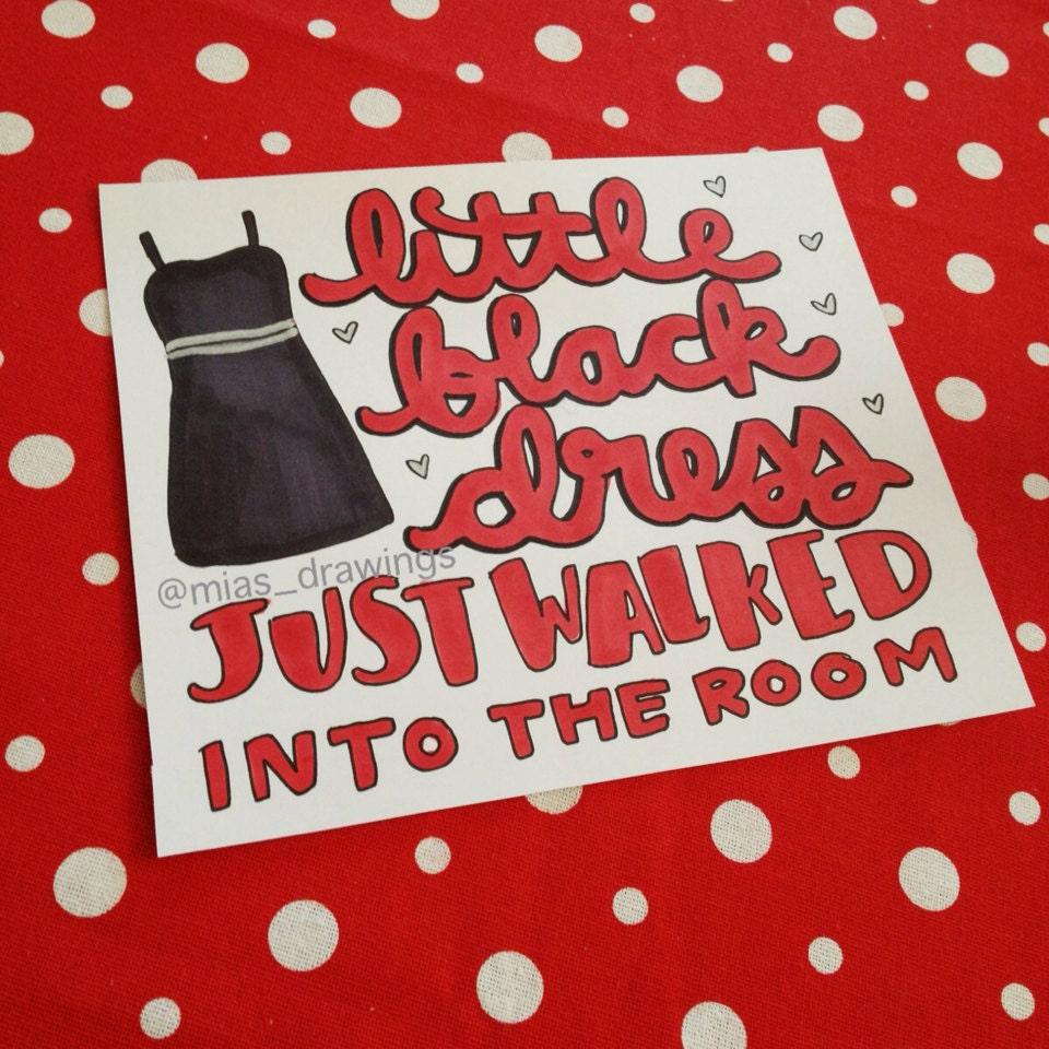 Items similar t... One Direction Little Black Dress Lyrics