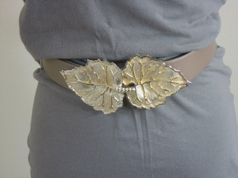 Mimi di N 1988 Golden Adjustable Leaf Belt
