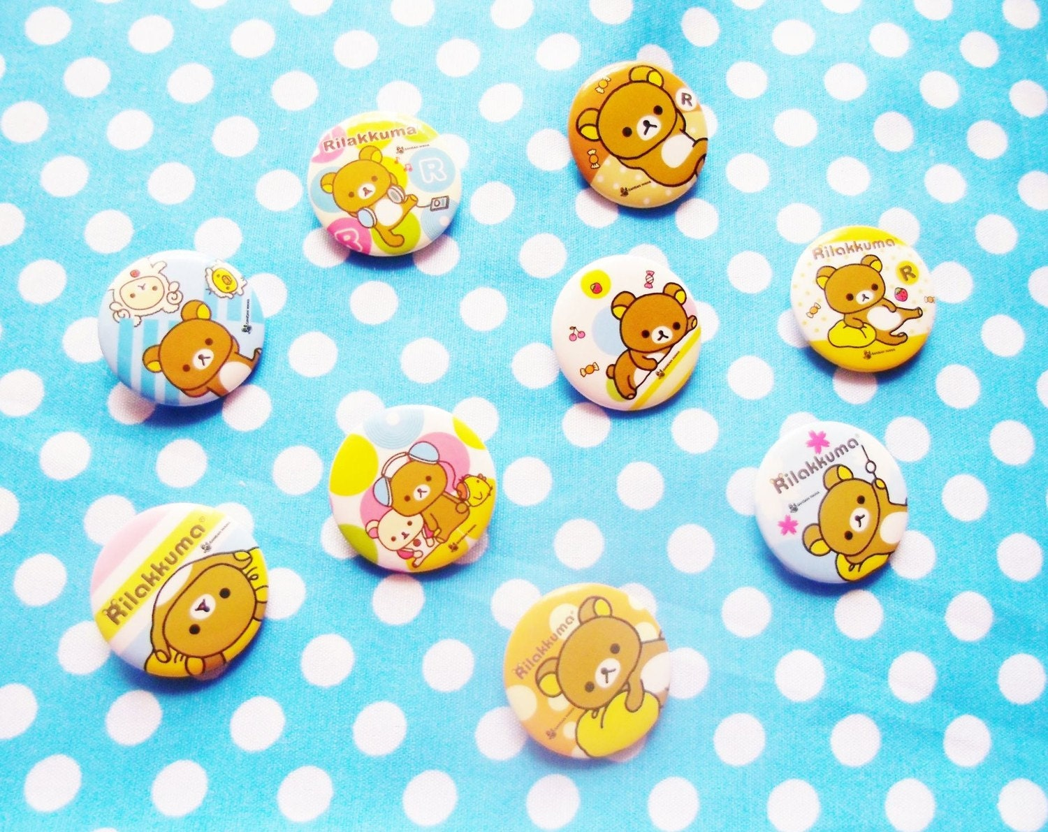 Kawaii Rilakkuma Relax Bear PINS