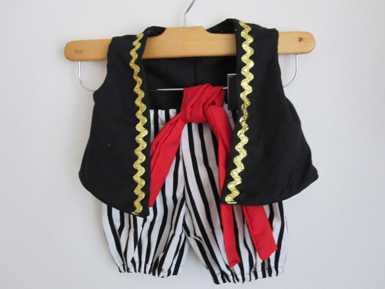 Pirate Boy Costume Vest Knickers and Sash - RaeGun