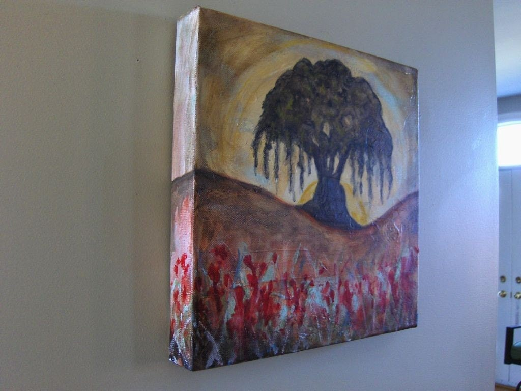 Willow Tree - Textured Acrylic Landscape