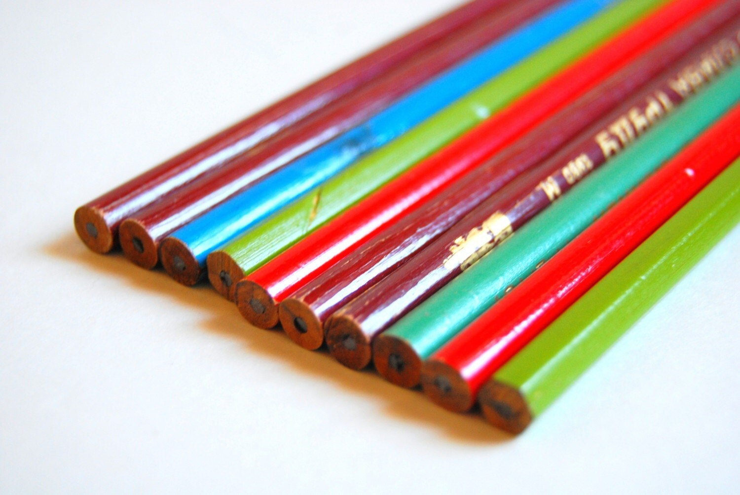 A set of 10 vintage pencils from Soviet Union