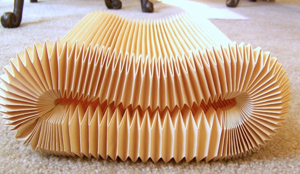 "Danish Modern Le KLINT Kaare pleated lamp shade 1970s accordian pleat 34"" mod NEVER USED - AntiqueAddictions"