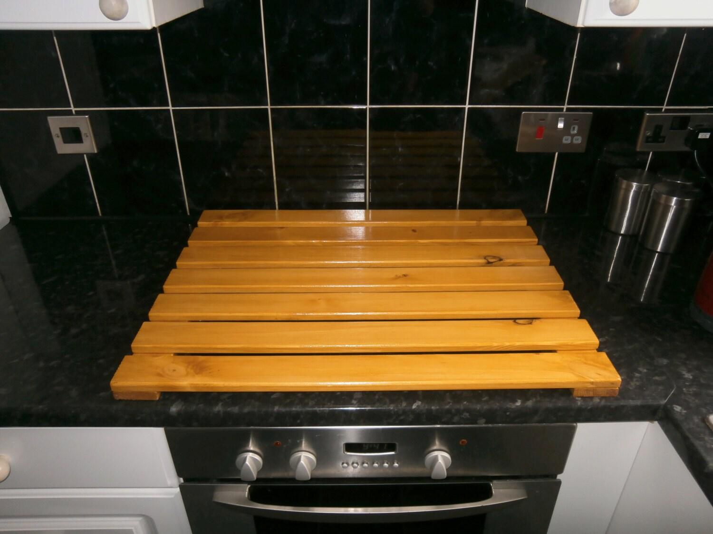 Wooden space saving kitchen appliances