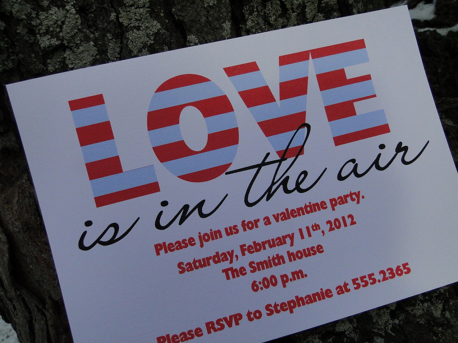Love is in the Air Valentine Invitation (set of 10)