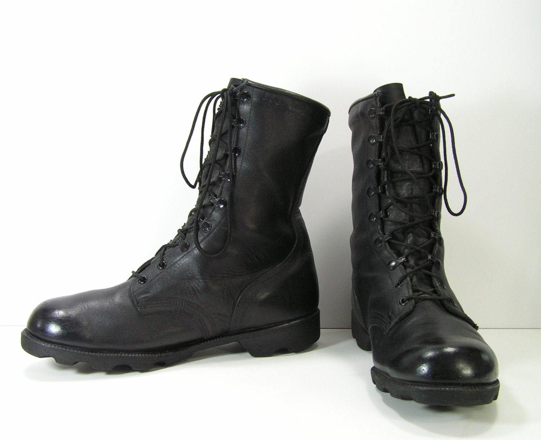 vintage combat boots mens 10 5 w black by moivintage