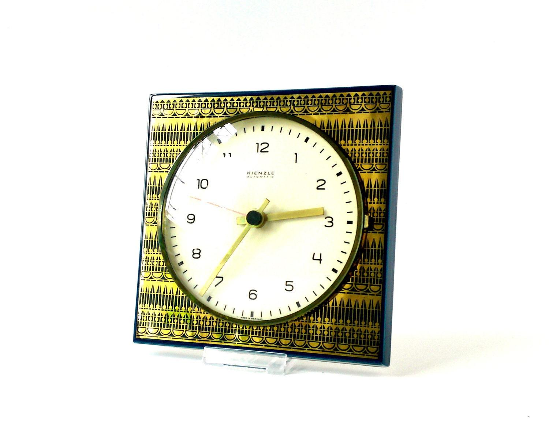 vintage wall clock kienzle west german gold by mightyvintage