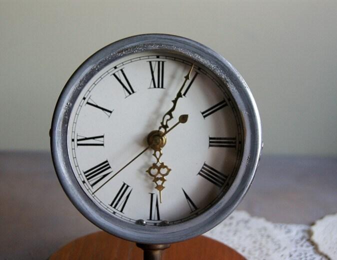 Vintage Upcycled Brass Hygrometer Clock