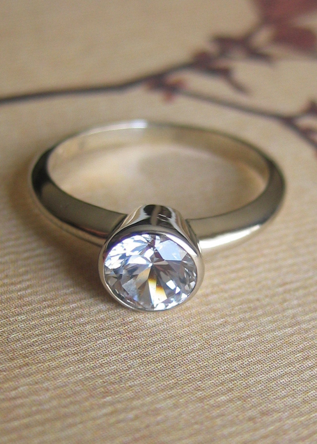 Sapphire Solitaire Ring