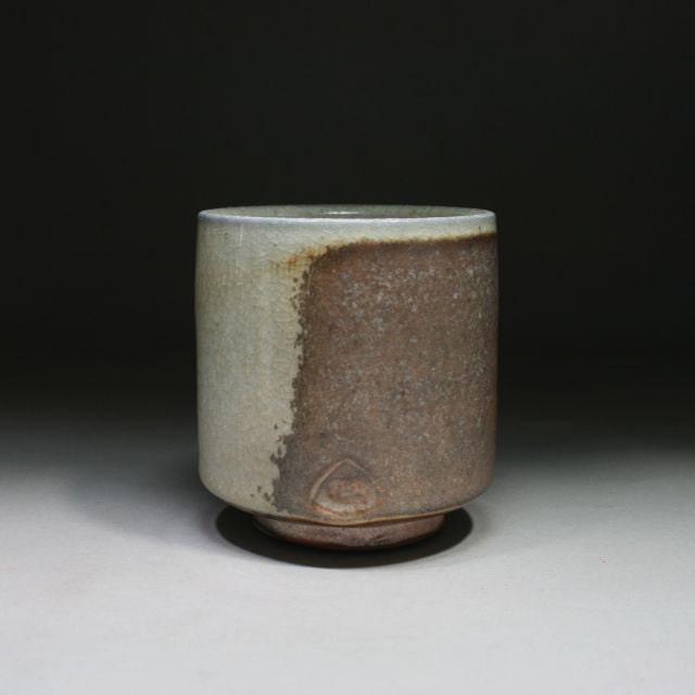 Shino Yunomi, Stoneware Cup, Wood Fired