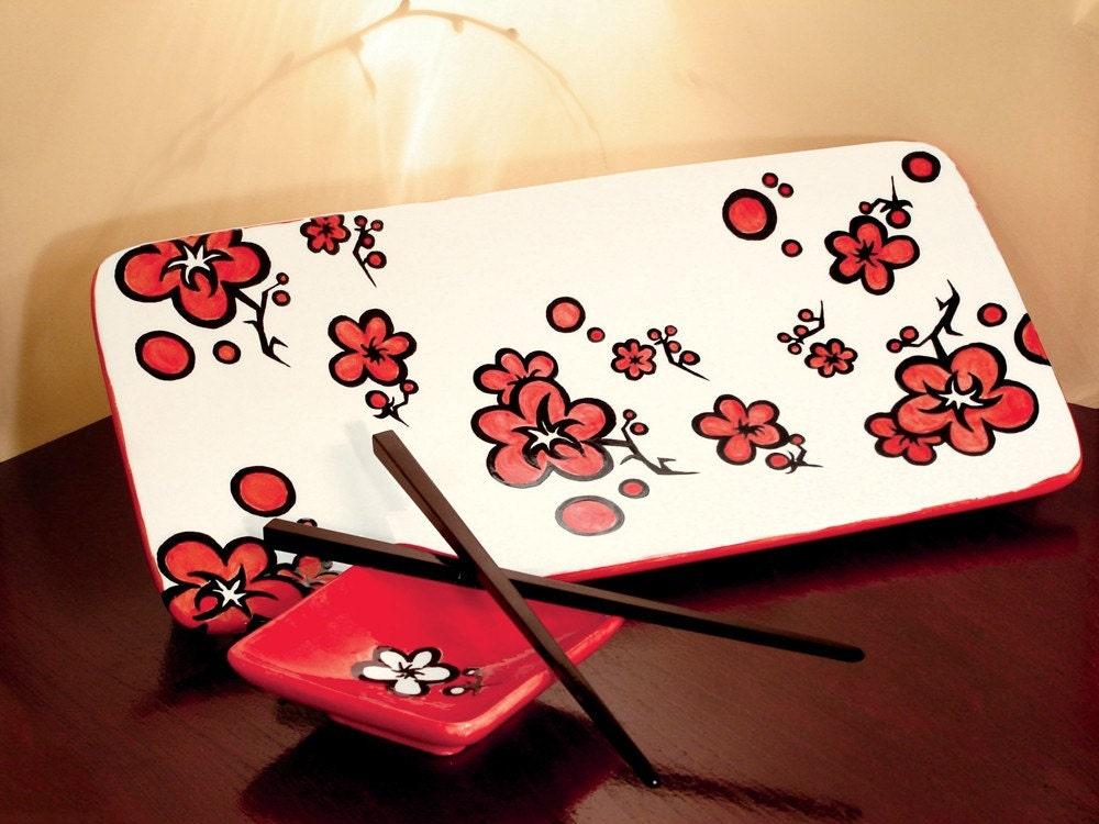 Etsy :: Cherry Blossom Festival Platter from etsy.com
