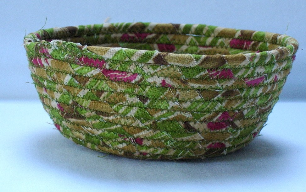 Art Deco Mini Fabric Bowl