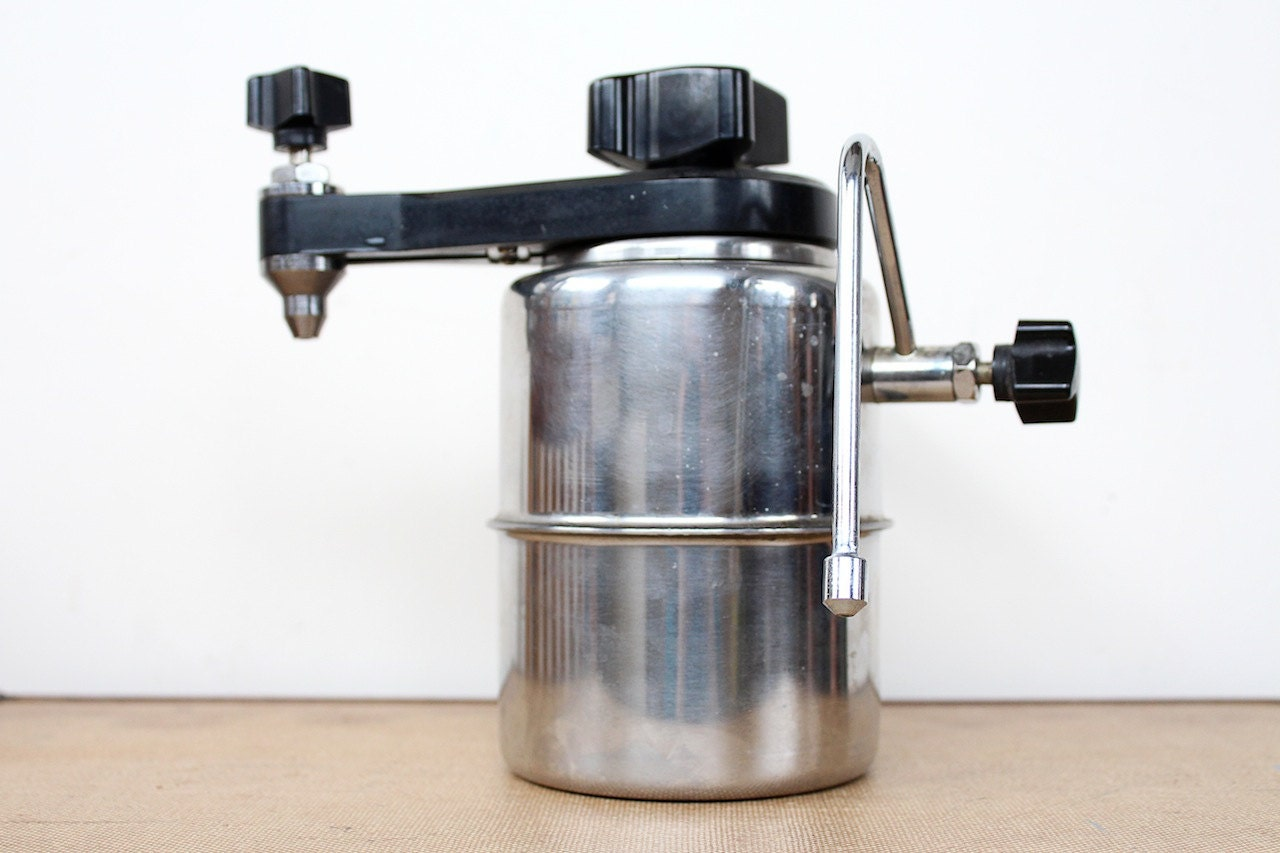 Coffee Maker With Milk Steamer : Items similar to vintage 1960s stove top steamer // 60s atomic style coffee maker // steamed ...