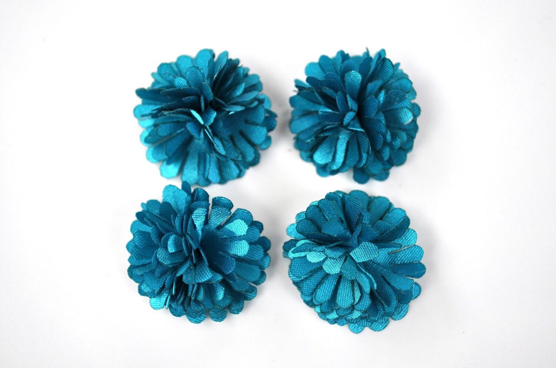 Mini Teal poms - set of 4 - headband decor - diy - hair supplies - baby headbands - TweetLoveByLTE