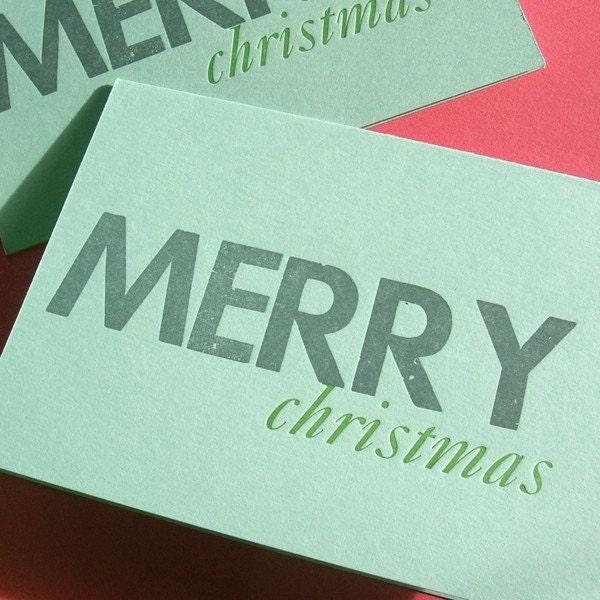 letterpress christmas