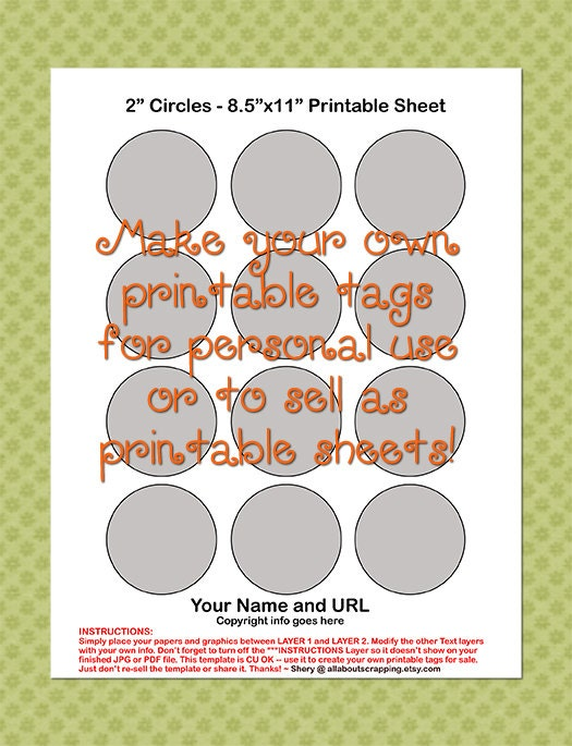 Printable Cupcake Toppers Template