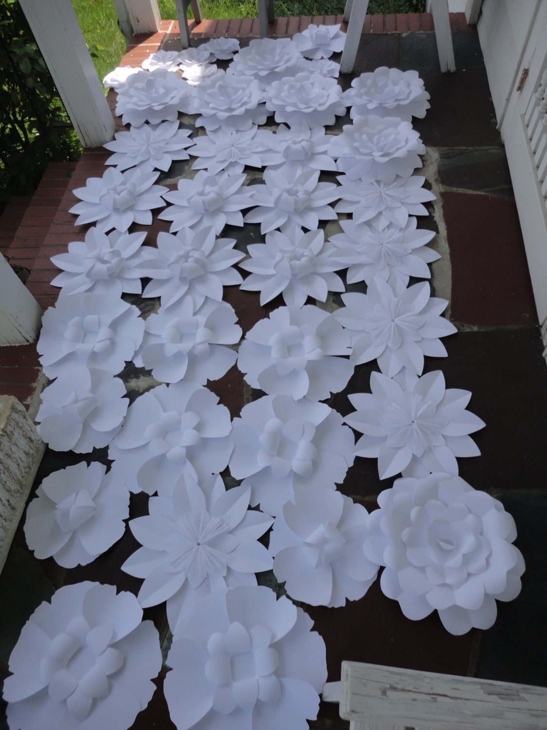 items similar to white paper flower backdrop flower wall 4