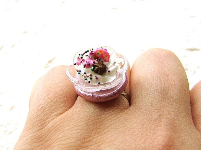 Sweet Mousse  Ring by SouZouCreations on Etsy
