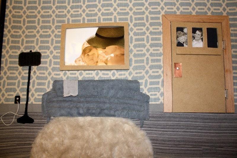 Personalized Mixed Media Fiber Wall Art - Living Room Setting