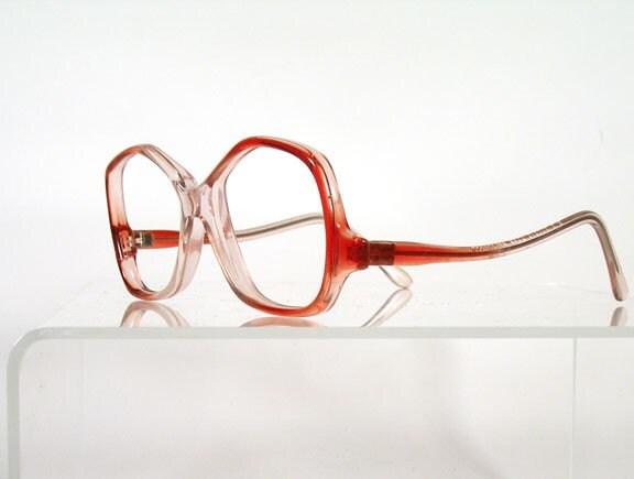 Very 1980s Red Fade Drop Arm Womens Eyeglass Frames